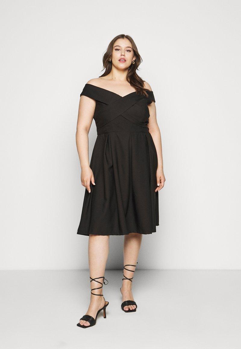 Chi Chi London Curvy - CURVE SEVDA DRESS - Cocktail dress / Party dress - black