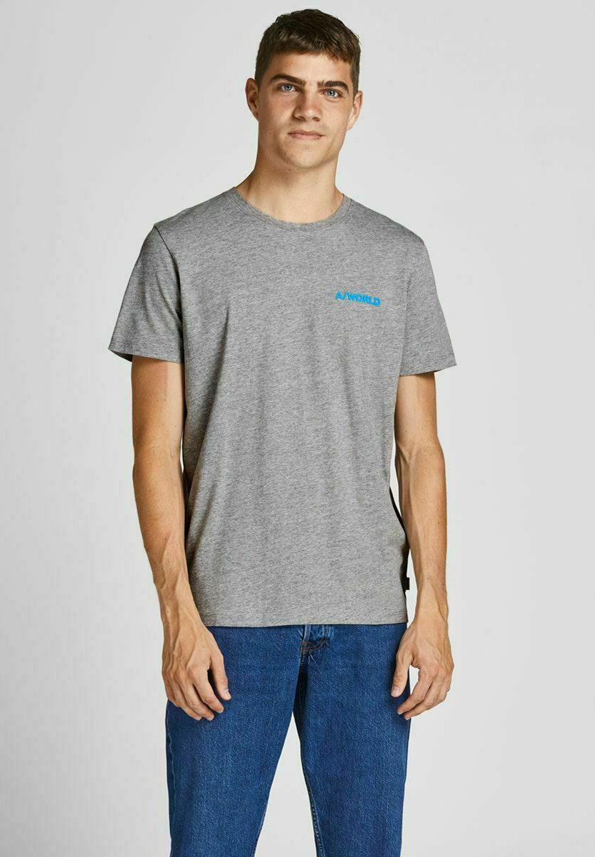 Hombre JJEAWORLD PRINT TEE CREW NECK - Camiseta básica