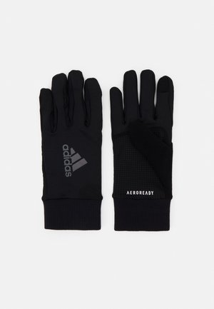 RUN GLOVES UNISEX - Fingerhandschuh - black