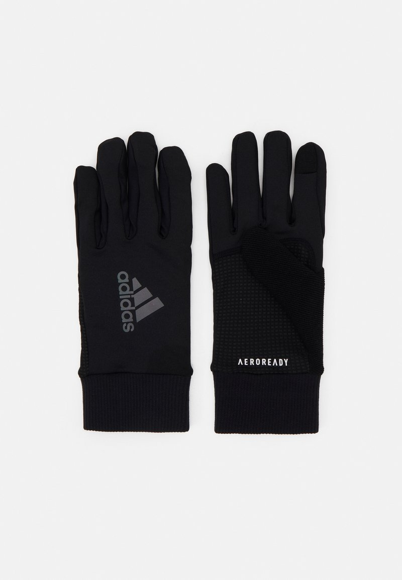 adidas Performance - RUN GLOVES UNISEX - Gloves - black