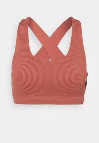 Cotton On Body - WORKOUT CUT OUT CROP - Reggiseno sportivo con sostegno leggero - chestnut - 0