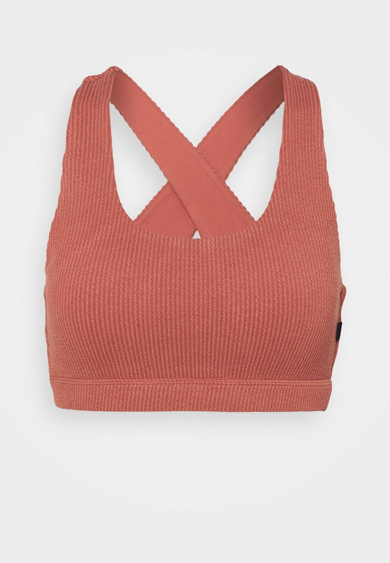 Cotton On Body - WORKOUT CUT OUT CROP - Reggiseno sportivo con sostegno leggero - chestnut