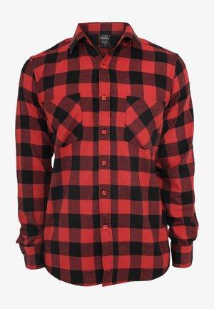 CHECKED - Overhemd - black/red