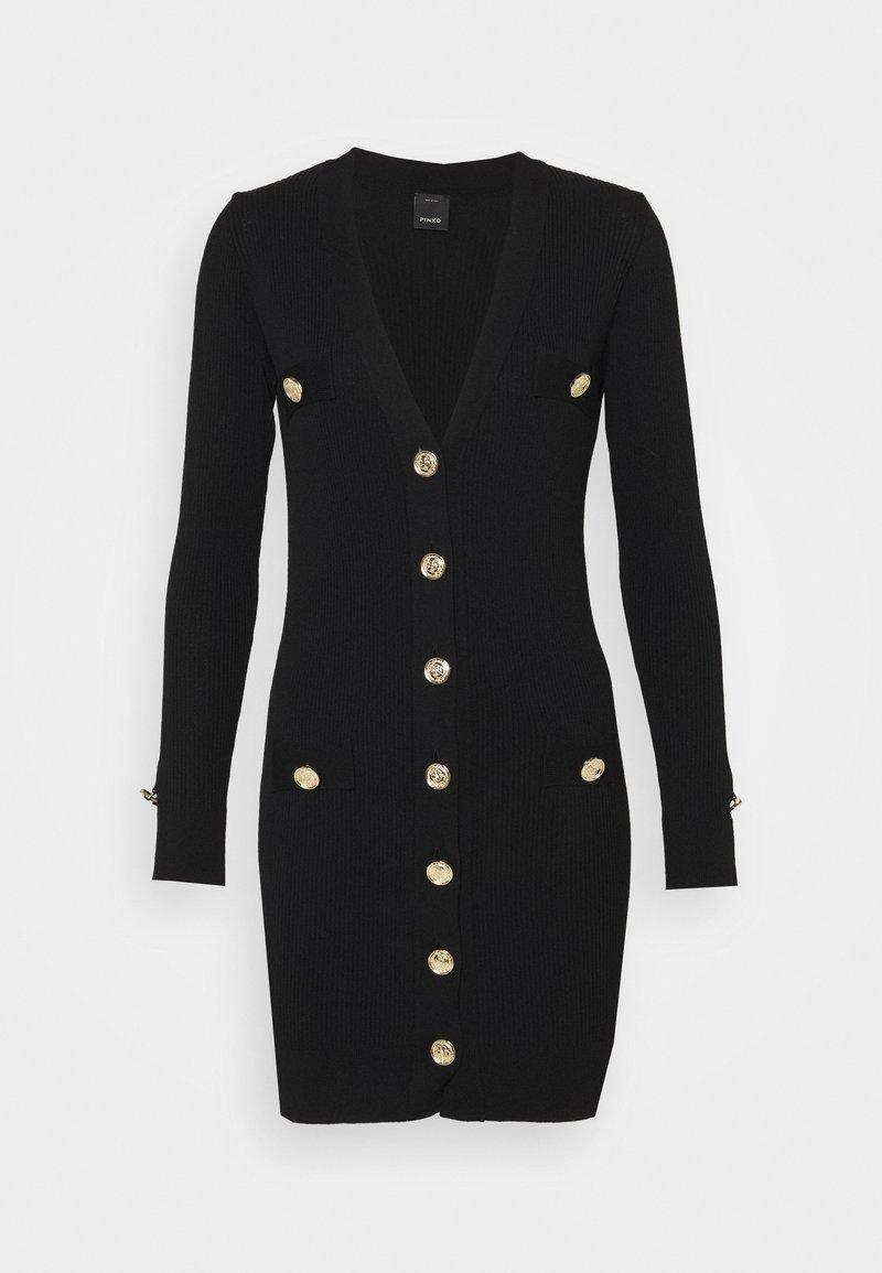 Pinko - PARAPENDIO ABITO COSTINA - Pletené šaty - black