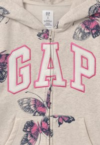 GAP - GIRLS LOGO - Mikina na zip - mottled beige - 2