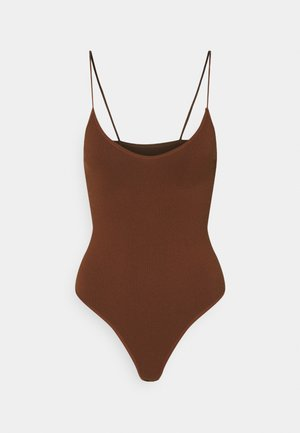 BUNGEE STRAP BODY THONG SNAP - Top - brunette