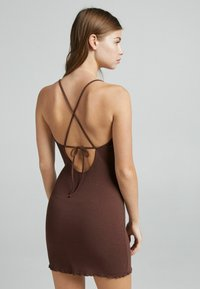 Bershka - Shift dress - brown - 2