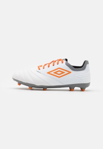 TOCCO PREMIER FG - Moulded stud football boots - white/carrot/frost gray