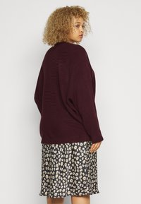 New Look Curves - EXPOSED SEAM CASH BAWTING - Jumper - dark burgundy - 2