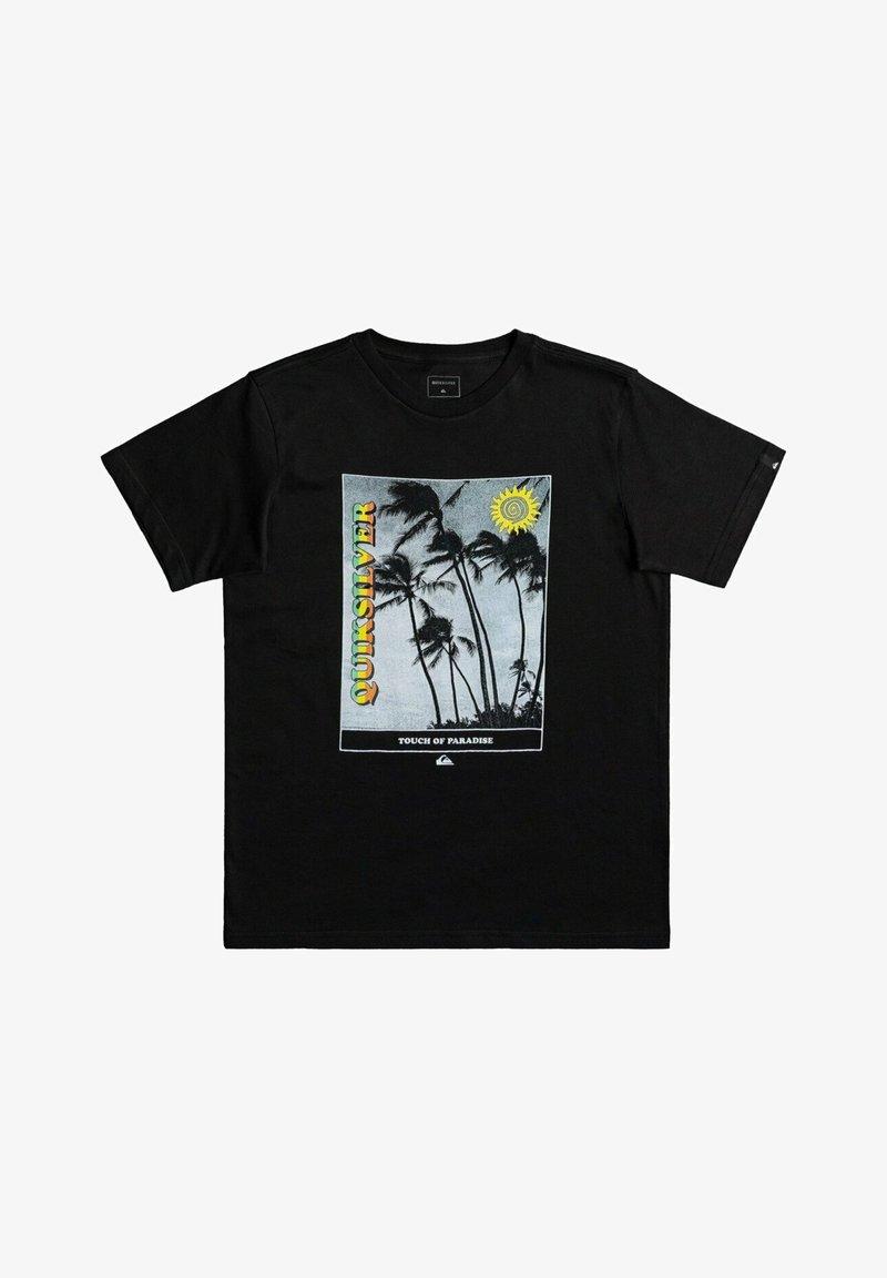 Quiksilver - SCENIC DRIVE  - Print T-shirt - black