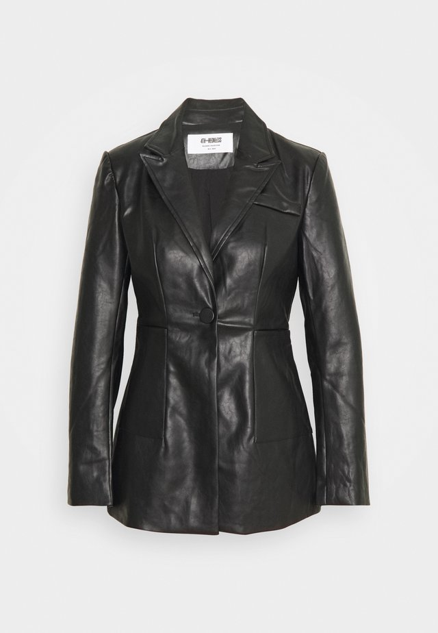 KAYDEN - Faux leather jacket - black