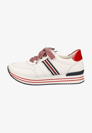 Trainers - white/silver/marine/flame