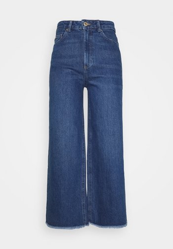 CROP - Relaxed fit jeans - blue denim