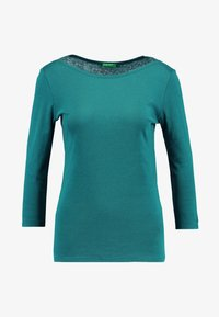Benetton - 3/4 SLEEVE BOATNECK TEE - Langærmede T-shirts - forest green - 3