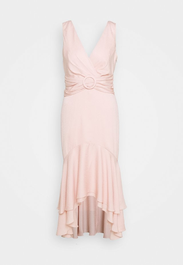 SIENNA BUCKLE MIDI DRESS - Freizeitkleid - blush