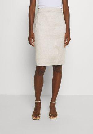 A-line skirt - sandy beig