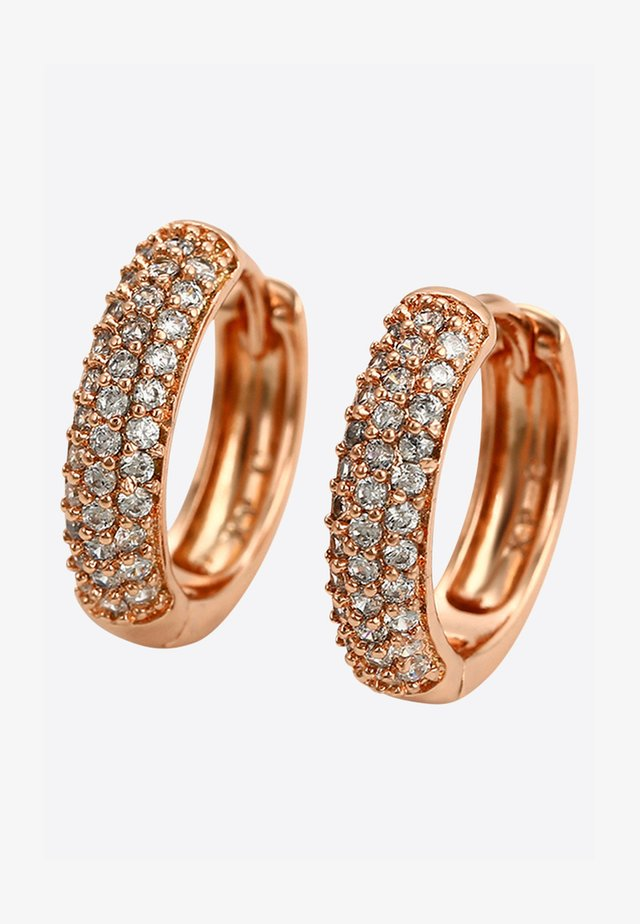 CREOLE POST - Earrings - rosegold