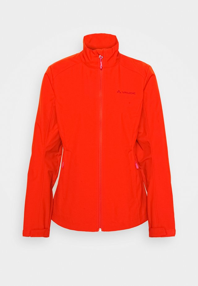 HURRICANE - Soft shell jacket - mars red