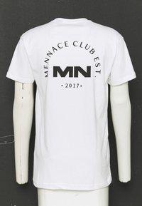 Mennace - CLUB UNISEX - T-shirt imprimé - white - 3