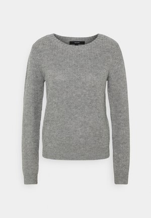 VMLEANNA O-NECK - Jumper - medium grey melange