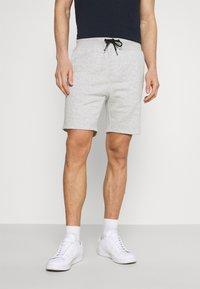 Pier One - 2 PACK - Shorts - mottled light grey/dark blue - 1