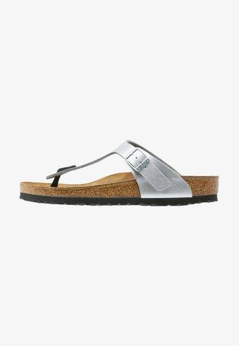 GIZEH - T-bar sandals - silver