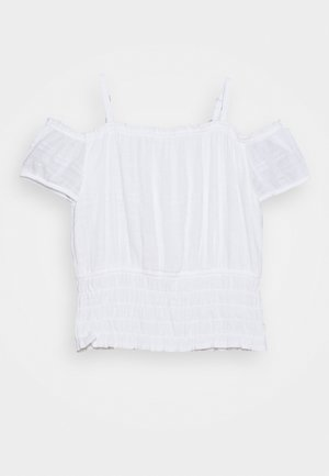 SMOCKED WAIST - T-shirt print - white