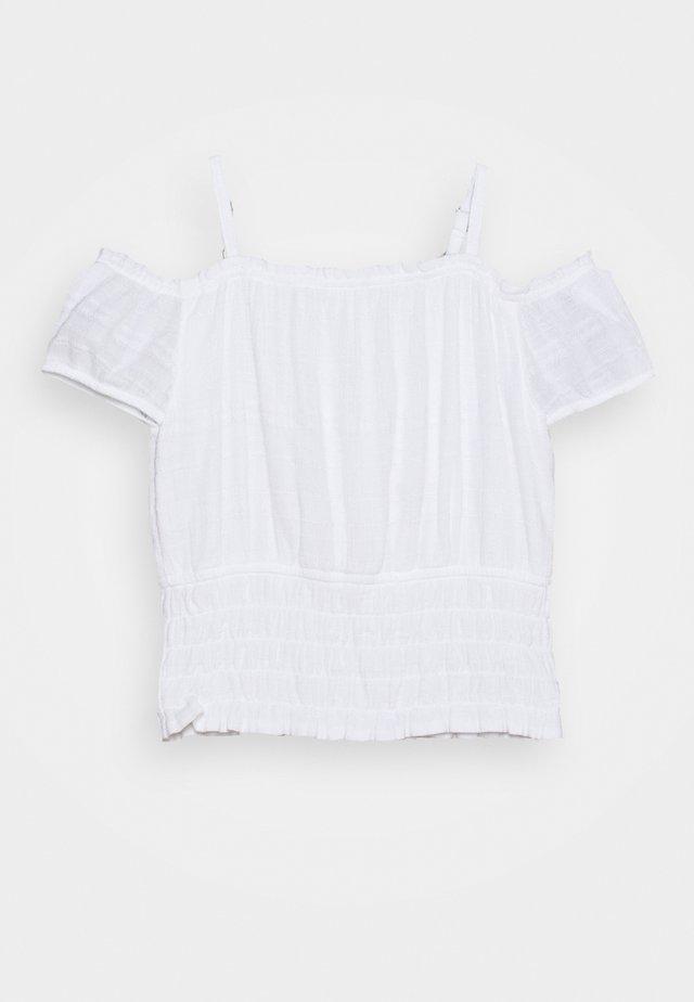 SMOCKED WAIST - T-shirt med print - white
