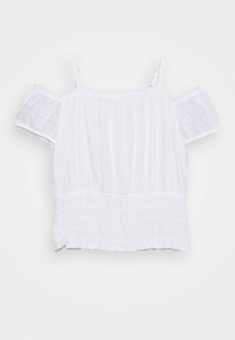 Abercrombie & Fitch - SMOCKED WAIST - Print T-shirt - white