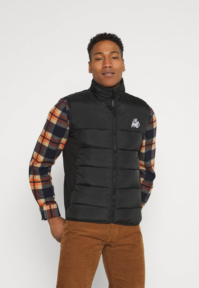 REEDE GILET - Vest - black