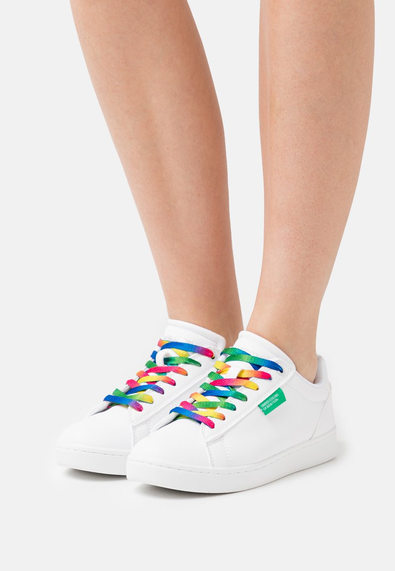 Benetton - LABEL LACES - Sneakers laag - white