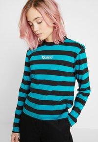 Kickers Classics - RUGBY STRIPE LONGSLEEVE - T-shirt à manches longues - teal/black - 5