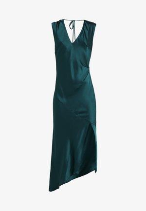 DESIREE DRESS WITH OPEN BACK - Společenské šaty - dark green