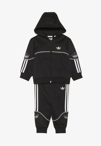 adidas Originals - OUTLINE FZ HOOD - Sudadera con cremallera - black/white - 3