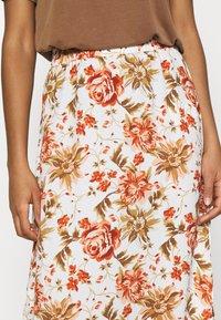 Vila - VIWAW RUA  SKIRT - Maxi skirt - snow white - 4