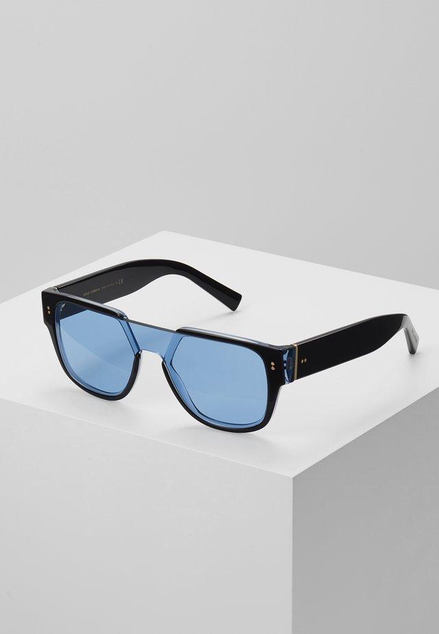 Sunglasses - black/transparent azure/light blue