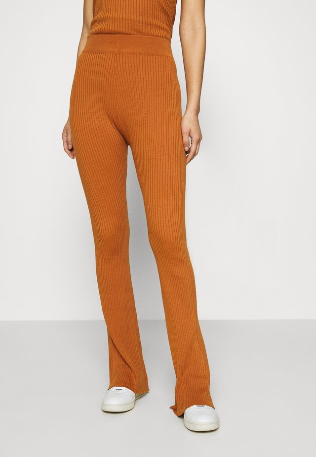 LONG LINES FLARE - Trousers - ochre