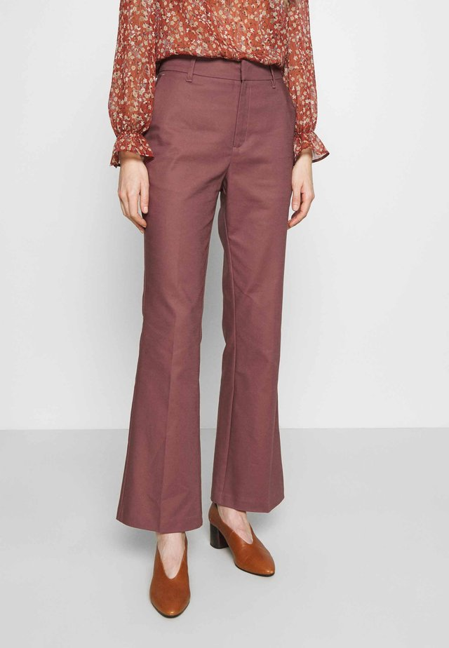 ESSENTIAL STRETCH - Pantalon classique - brown rose