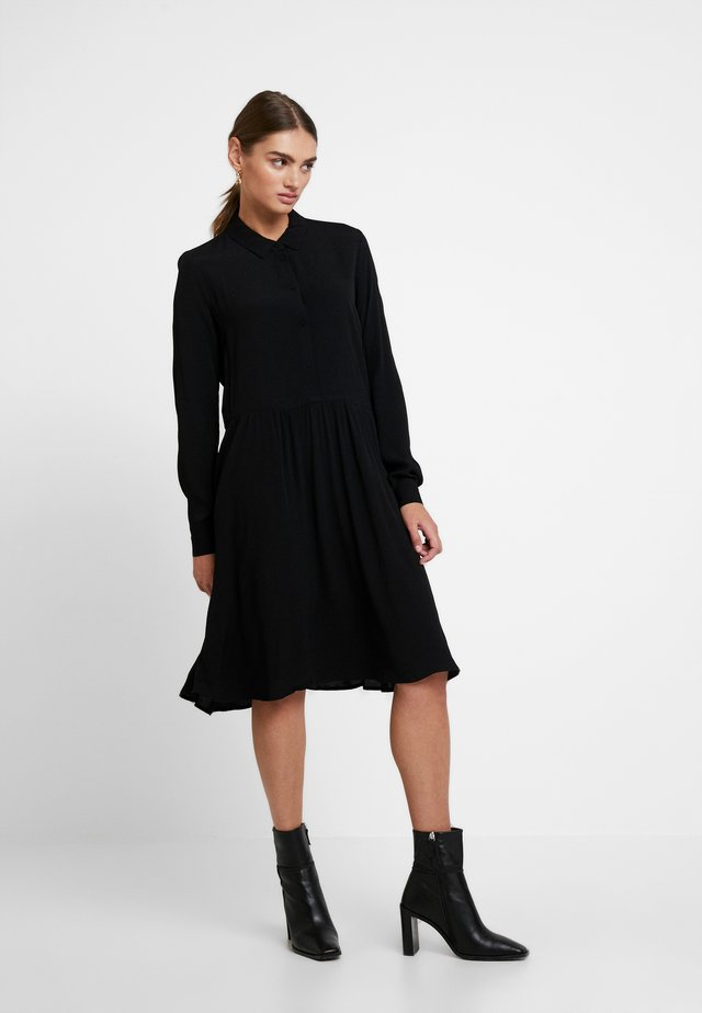 BINDIE DRESS - Skjortekjole - black