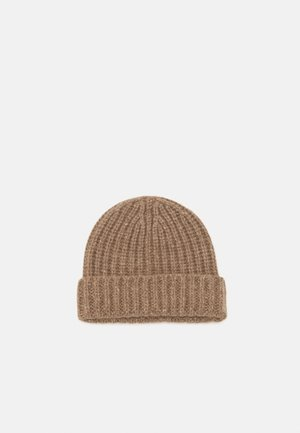 DONEGAL CASHMERE BEANIE - Muts - otter