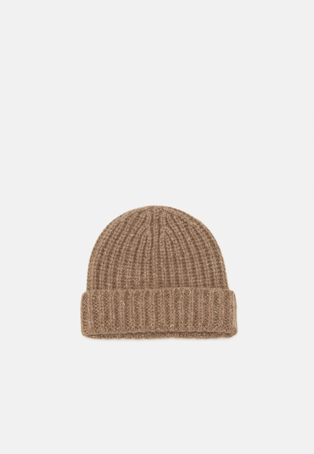 DONEGAL CASHMERE BEANIE - Huer - otter