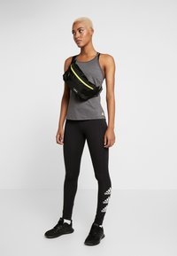 adidas Performance - ESSENTIALS SPORT INSPIRED COTTON LEGGINGS - Collants - black/white - 1