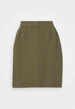 OBJCHIA NICKY SKIRT - Mini skirt - burnt olive