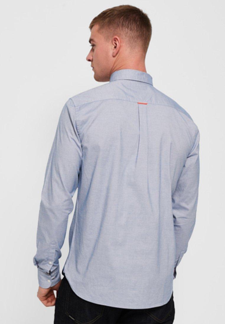2020 Miesten vaatteet Sarja dfKJIUp97454sfGHYHD Superdry Vapaa-ajan kauluspaita blue