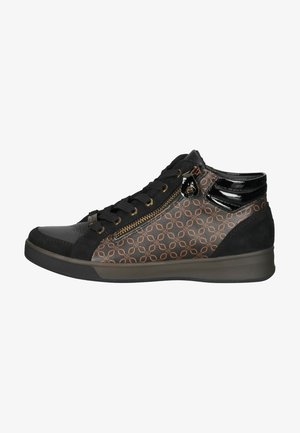 Höga sneakers - schwarz/moro