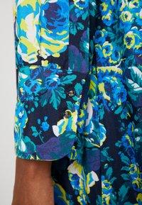 Rich & Royal - DRESS WITH PIN TUCKS - Day dress - multi-coloured/dark blue/neon green - 6