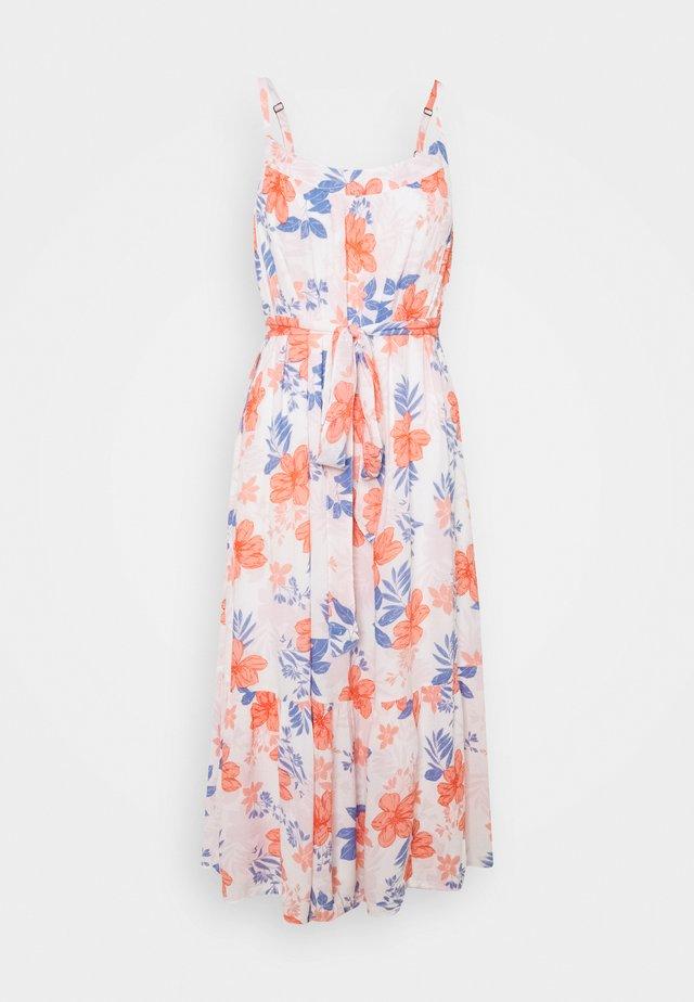 MIDI TIE WAIST DRESS - Korte jurk - white