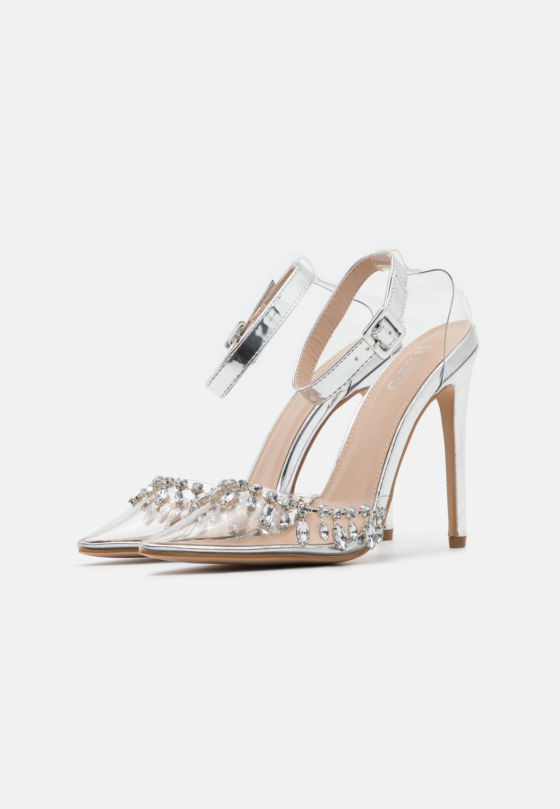BEBO RASSEL High Heel Pumps clear/silver/silber