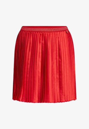 Pliceret nederdel /Nederdele med folder - orange