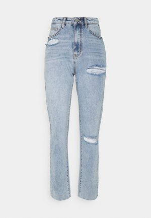 SLIM STRIAGHT SLASH RIP - Relaxed fit jeans - blue